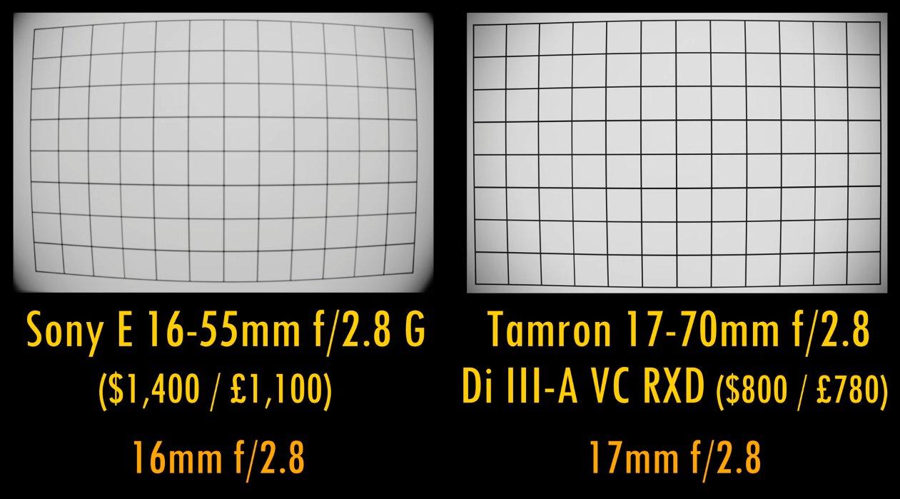 Tamron 17-70mm f/2.8 vs Sony 16-55mm f/2.8 Distorsiyon Testi