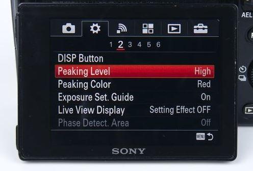 Sony Focus Peaking.JPG