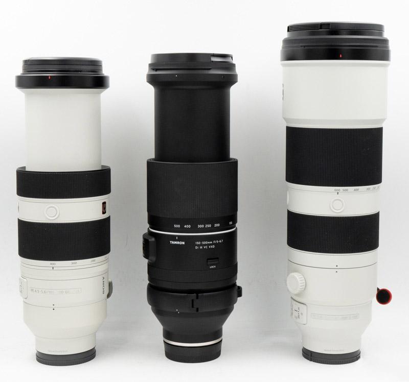Sony FE 100-400mm GM OSS F4.5-F5.6 vs Tamron 150-500mm f/5-6.7 vs Sony FE 200-600mm F5.6-6.3 G OSS